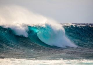 tidal wave sea coast water