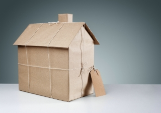 house wrapped