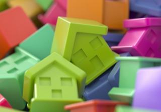multi coloured houses
