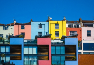 colourful houses bristol