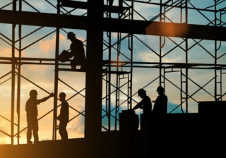 builder construction build house scaffold