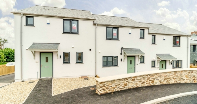 First completed affordable rent-to-buy homes in the South Hams