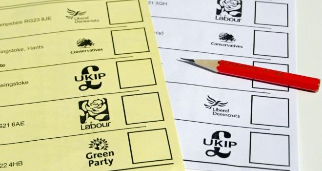 politics polling card voting vote