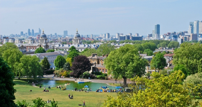 london park green space view