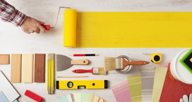 decorating home improvement interior paint roller